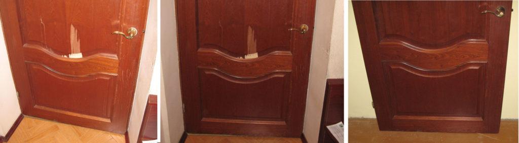 Реставрация межкомнатных дверей их шпона своими руками