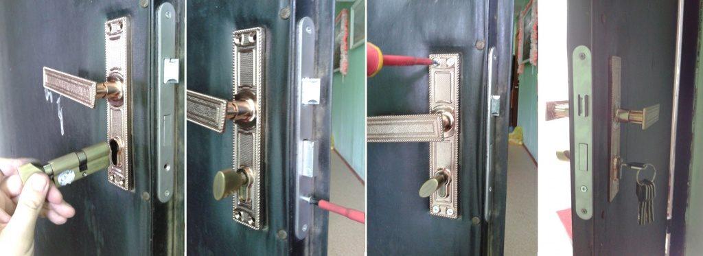 Как сменить замок на входной металлической двери