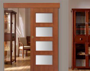 Конструкция межкомнатной раздвижной двери