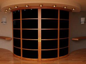 Радиусная раздвижная межкомнатная дверь