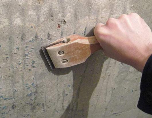 Металлический скребок для снятия краски