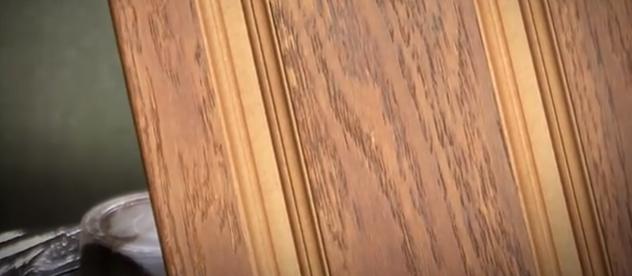 Деревянная накладка после лакировки