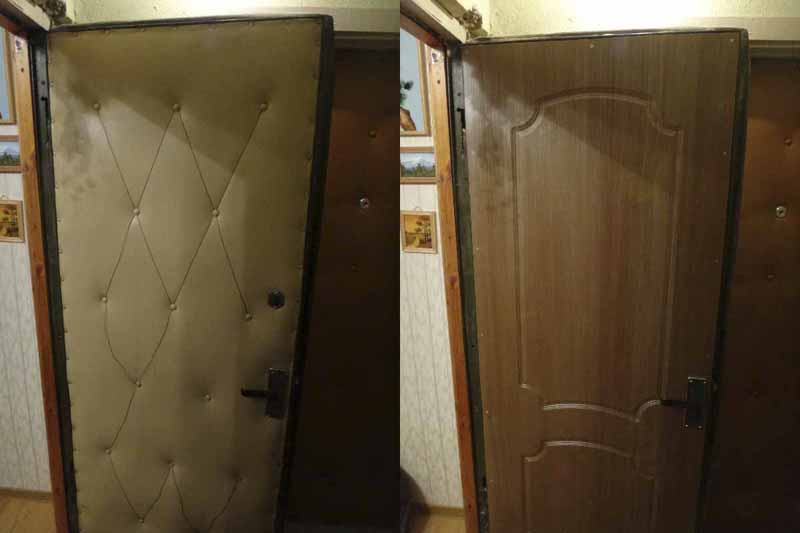 Реставрация входной двери – до и после