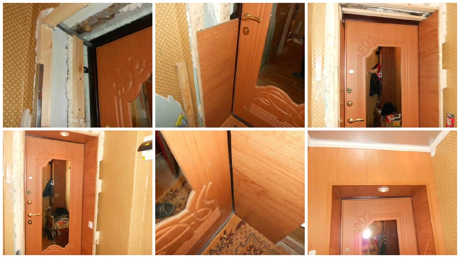 Обустроить дверной откос из МДФ