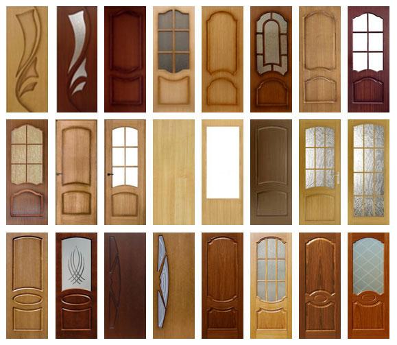 Ассортимент шпонированных дверей