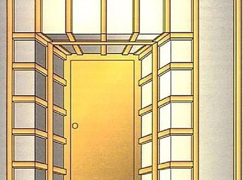 Вариант обрешетки для дверных откосов