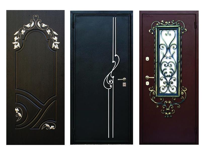 Выбор отделки металлических дверей