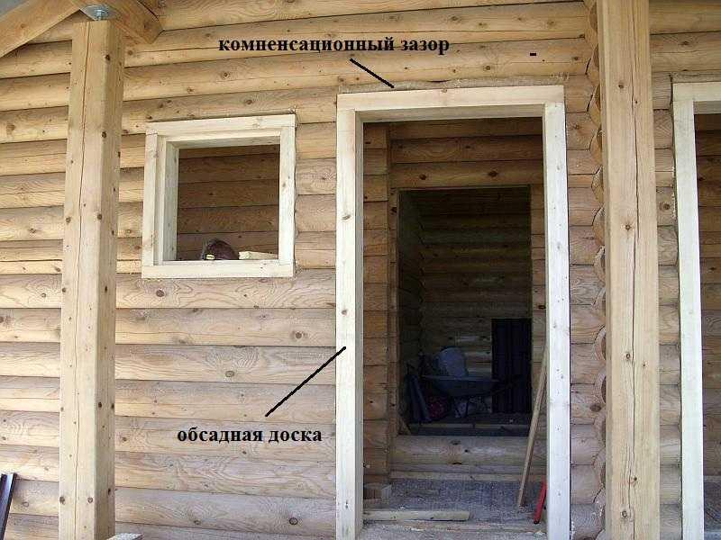 Обсада для дверей в деревянном доме