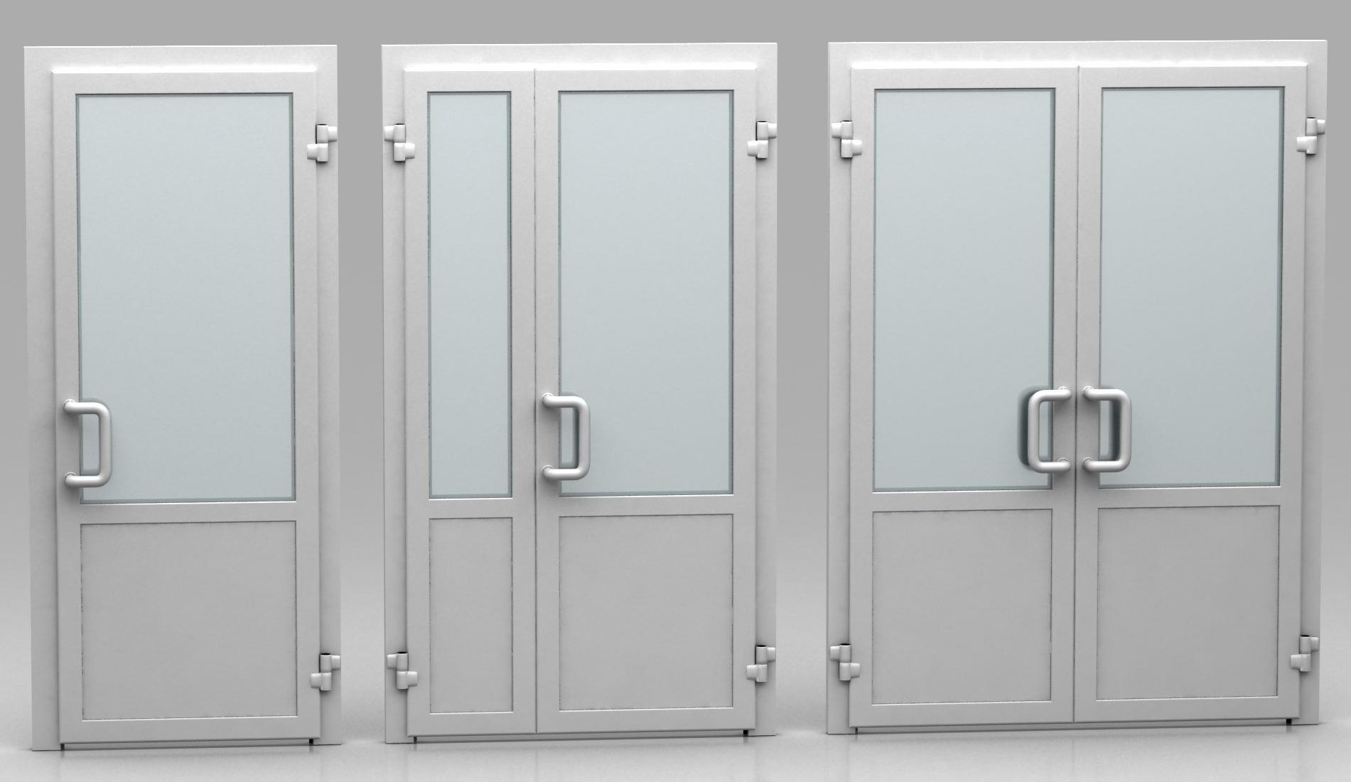 Разделение пластиковых дверей по количеству створок