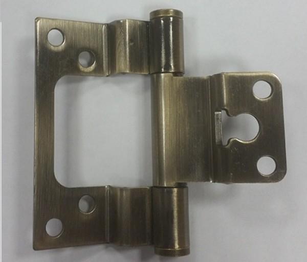 Ступенчатая карточная петля для дверей с притвором