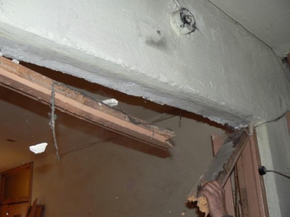 Демонтаж деревянной лутки