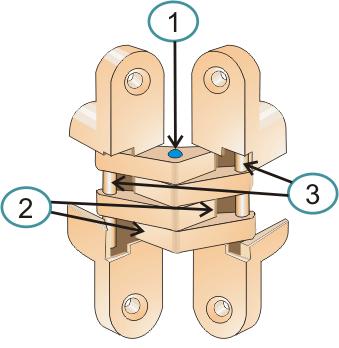Схема одной из моделей скрытого навеса