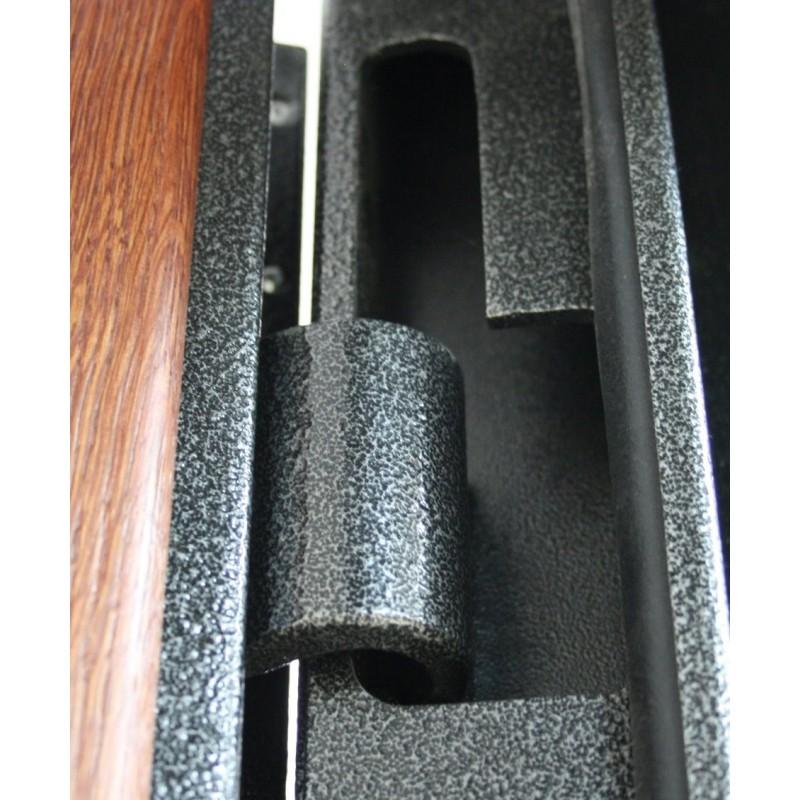 Простейший скрытый навес на тяжелую металлическую дверь