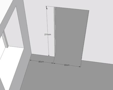 Разметка стены делается согласно техническим условиям
