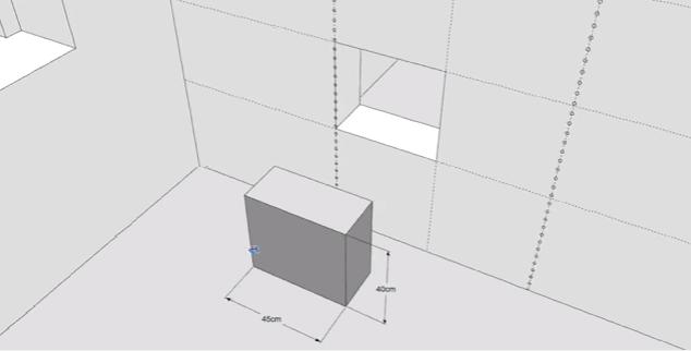 Разрезаем проем на отдельные блоки
