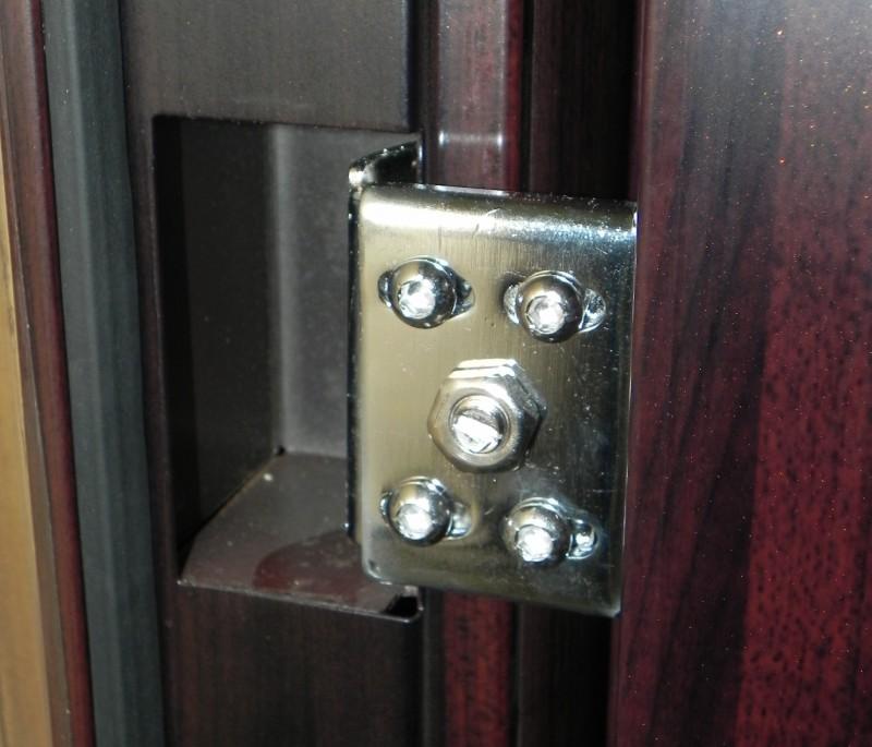 Пример скрытого навеса на китайской металлической двери