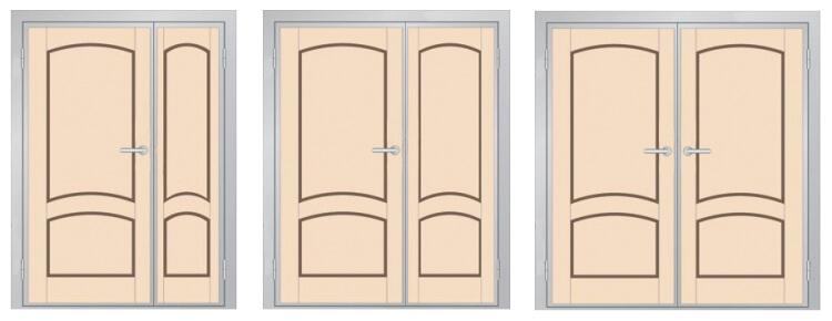 Пропорции спаренных дверей