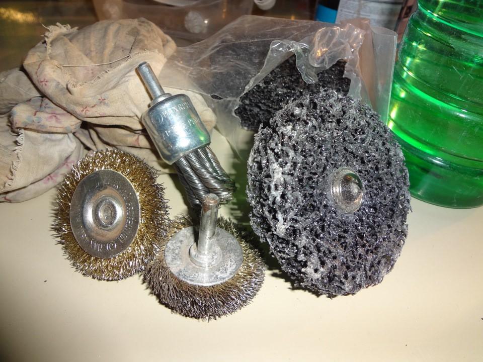 Металлические насадки с корд-щетками