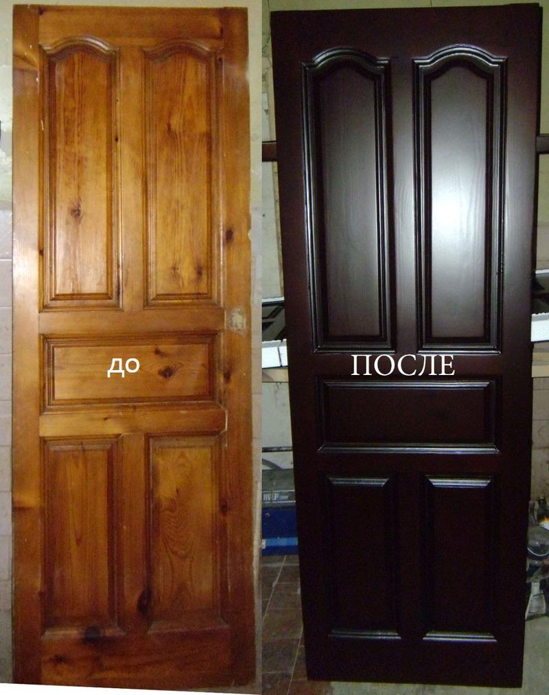 идеи по окрашиванию входных деревянных дверей фото